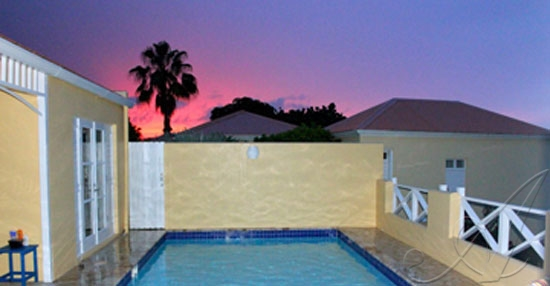Caribe ~ Sunset over Private Pool Villa, St. Croix