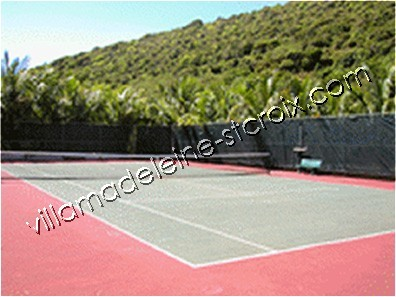 Tennis court on grounds